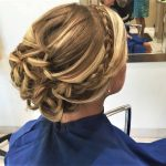 braded hairstyle with highlighed hair