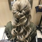 bridesmaid flip hairstyle