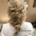 long hair bride hairstyle with embellishments