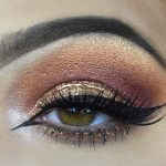 amber eye shadow makeup